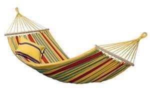 La hamaca colgante individual Aruba de la marca Amazonas es la segunda con mejores opiniones en Amazon