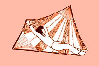 cómo tumbarse en una hamaca