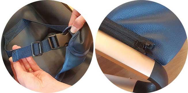 Hamaca con cinturón y Funda resistente y fácil de limpiar