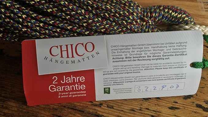 Chico Hängesessel Garantie