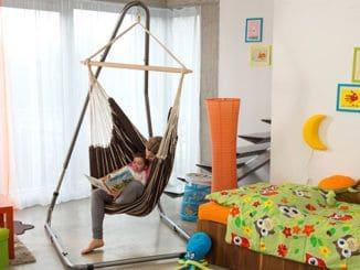 Amazonas Luna Rockstone Hängesesselgestell mit Mutter und Baby