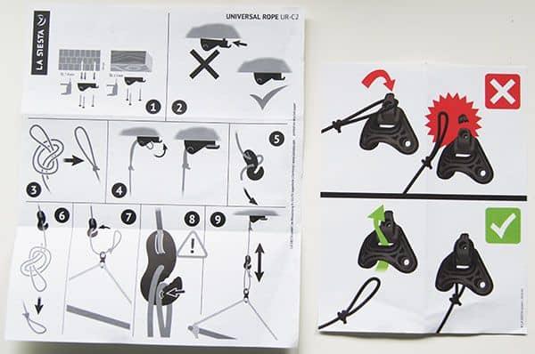 Instrucciones para la cuerda universal La Siesta