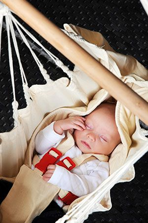 El lugar perfecto para dormir: la hamaca para bebés