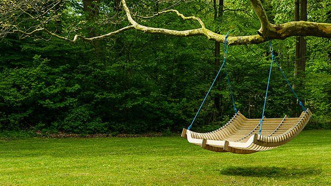 Una tumbona colgante en una rama
