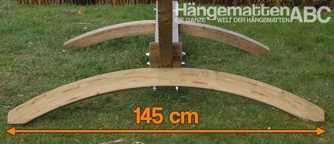 Ancho del soporte de la hamaca Olymp: 145 cm