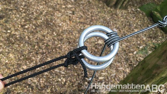 Anillos de aluminio hamaka para colgar