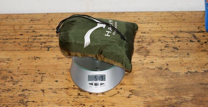 Hamaca al aire libre HAWK en la balanza: 549 g